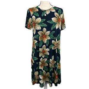 Hugs & Kisses Hawaiian Tropical Dress M